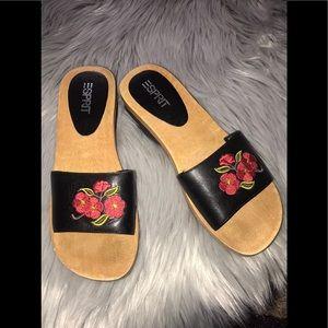 NWOT ESPRIT Floral Leather Sandals 6